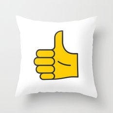 Hand Gesture - Thumbs Up Throw Pillow