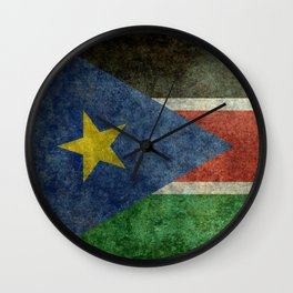 Republic of South Sudan national flag - Vintage version Wall Clock