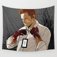 dexter Wall Tapestries featuring Dexter by Elena Casagrande