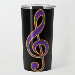 Rainbow G Clef Treble Clef Music Lover Musician Travel Mug