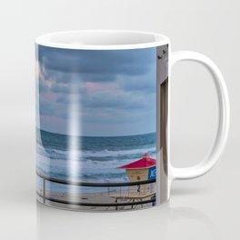 Morning Moon Over Tower Two Coffee Mug