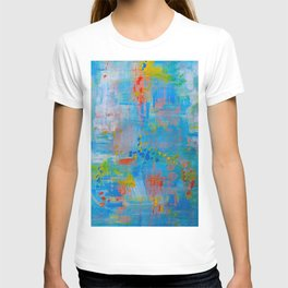 Colorful Abstract Wall Art, Vibrant colors, Contemporary home decor T-shirt