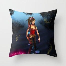 .:Through the Mist:. Throw Pillow