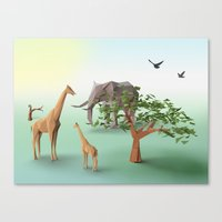 africa Canvas Prints featuring Africa by CharismArt