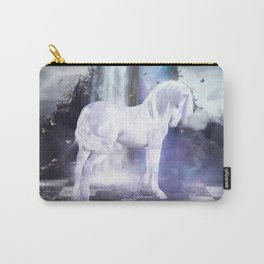 Silver Unicorn Carry-All Pouch