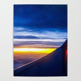 Midflight Sunset Poster