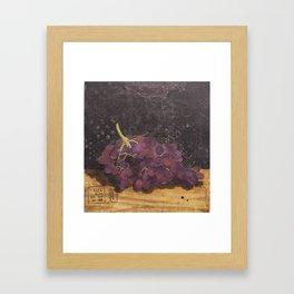 A bunch of grapes Framed Art Print