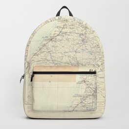 Old 1924 Historic State of Palestine South Map Backpack