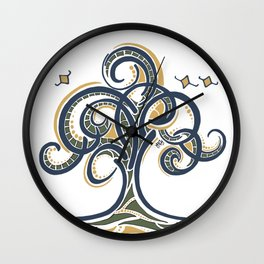 Geometric Tree Wall Clock