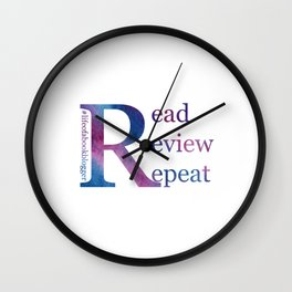Read, Review, Repeat Wall Clock