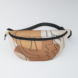 Abstract Clay Faces I Fanny Pack
