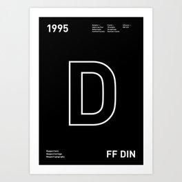 Sans Serif Vol. ¹ – Din Art Print
