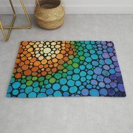 Blissful - Colorful Mosaic Art - Sharon Cummings Rug