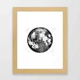 Negative Full Moon Print, by Christy Nyboer Framed Art Print