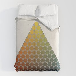 Lichtenberg-Mayer Colour Triangle vintage remake, based on Mayers' original idea and illustration Comforters