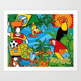 Brazilian Fauna Art Print