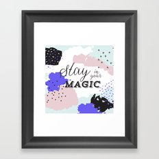stay in your magic Framed Art Print