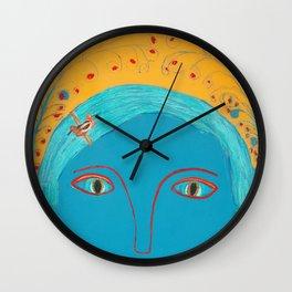 Feather Fern Wall Clock