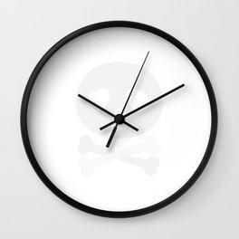 Kawaii Panda pirate skull Wall Clock
