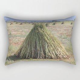 Harvested Sesame Crop Rectangular Pillow