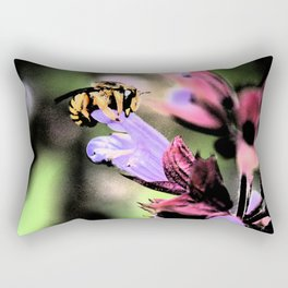 Bee and Flower Rectangular Pillow