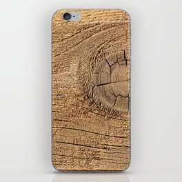 Old wood plank iPhone Skin