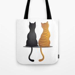 cat buddies Tote Bag