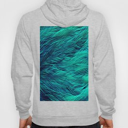 Teal Feathers Hoody