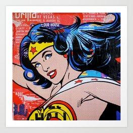 I don't believe in super men Art Print