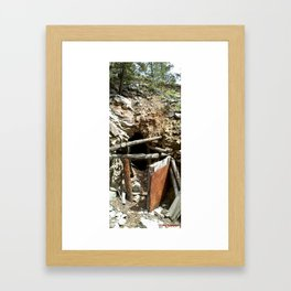 Colorado Gold Rush Mine and Cabin, No. 2 of 3 Framed Art Print