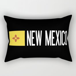 New Mexico: New Mexican Flag & New Mexico Rectangular Pillow