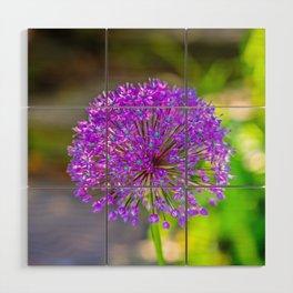 Purple + Blue Flower Wood Wall Art