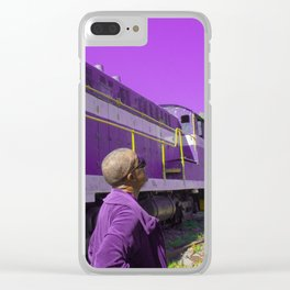 Purple, and other colors of existence Clear iPhone Case