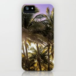 PURPLE AND GOLD SKIES iPhone Case