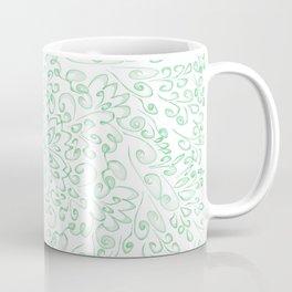 Green fractal flower Coffee Mug