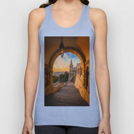 Fisherman's Bastion in Budapest, Hungary Unisex Tank Top