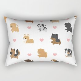 Dog Breeds with Hearts Rectangular Pillow