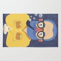 beard Area & Throw Rugs featuring Blue Beard by Beardy Graphics