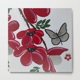 Small Flower Canvas Metal Print