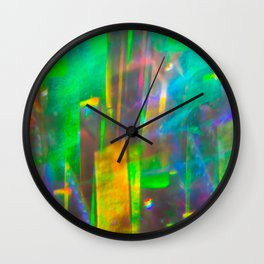 Prisms Play of Light 4 Wall Clock