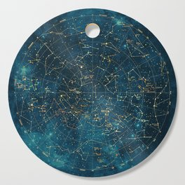 Under Constellations Cutting Board