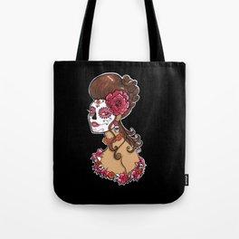 Glamorous Sugar Skull Girl Tote Bag