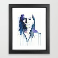 Brian Molko (Lilac) Framed Art Print