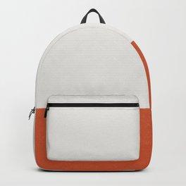 Burnt Orange Color Block Backpack