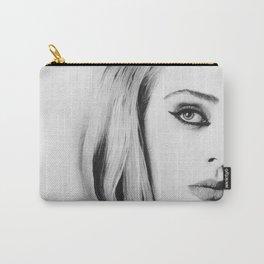 Mrs. Adkins Pencil Portrait. Carry-All Pouch