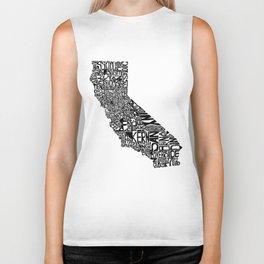 Typographic California Biker Tank
