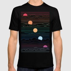 Many Lands Under One Sun MEDIUM Mens Fitted Tee Black