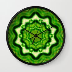 WOOD Element kaleido pattern Wall Clock