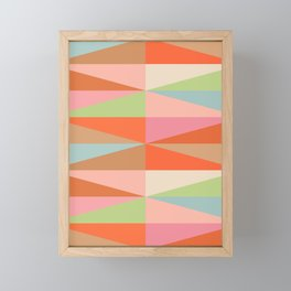 Abstraction_TRIANGLE_VISUAL_PATTERN_ART_001A Framed Mini Art Print