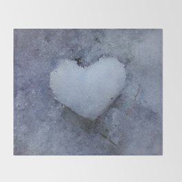 Heart of Ice Throw Blanket